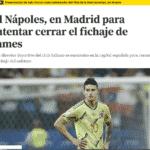 MUNDO DEPORTIVO - Il Napoli a Madrid per chiudere l'affare James Rodriguez