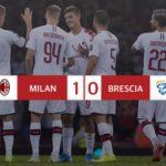 Milan - Brescia 1-0, Calhanoglu regala i tre punti ai rossoneri