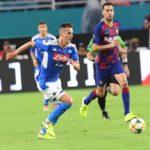 Il Napoli tiene testa al Barcellona