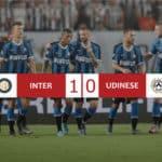 Inter 1-0 Udinese, nerazzurri da soli in vetta
