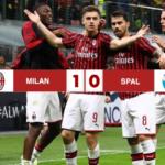 Milan - SPAL 1-0, decisiva la punizione del subentrato Suso