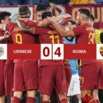 Udinese - Roma 0-4, è crisi totale per i bianconeri