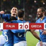 Italia 2-0 Grecia, la banda Mancini qualificata ad Euro2020