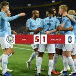 City 5-1 Atalanta, la dea si inchina ad un grande Manchester City