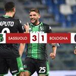 Sassuolo - Bologna 3-1: doppio Caputo e Boga, De Zerbi torna a sorridere