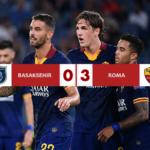 Basaksehir - Roma 0-3, i giallorossi tornano in testa al girone