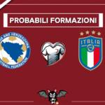 Bosnia-Erzegovina - Italia, le probabili formazioni