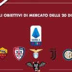 Gli obiettivi di mercato delle 20 di A: Roma, Cagliari, Lazio, Juventus, Inter