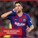 Barcellona, infortunio per Suarez. I tempi di recupero