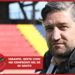 Taranto, gesto choc nei confronti del DS De Santis
