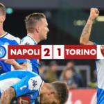 Napoli - Torino 2-1, Manolas e Di Lorenzo regalano la terza vittoria di fila